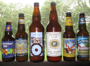 A six pack of summer brews
