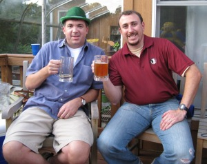 Enjoying Oktoberfest with Rich