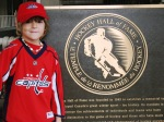 Ben at the Hockey Hall of Fame