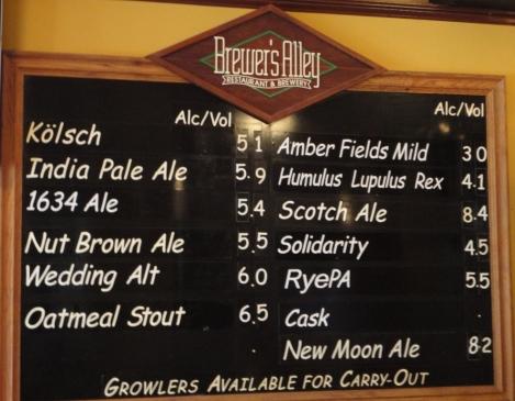 Brewers Alley Chalkboard