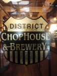District Chophouse glass door