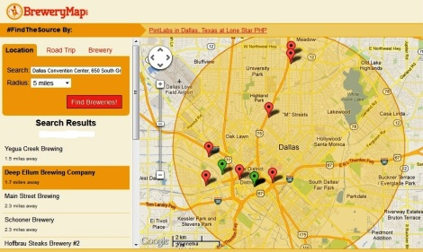Dallas Brewery Map