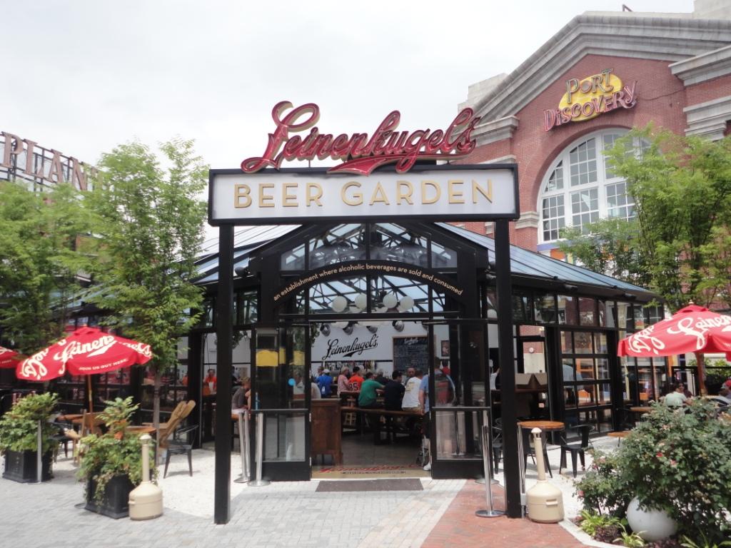 leinenkugel s beer garden in baltimore boa beer blog