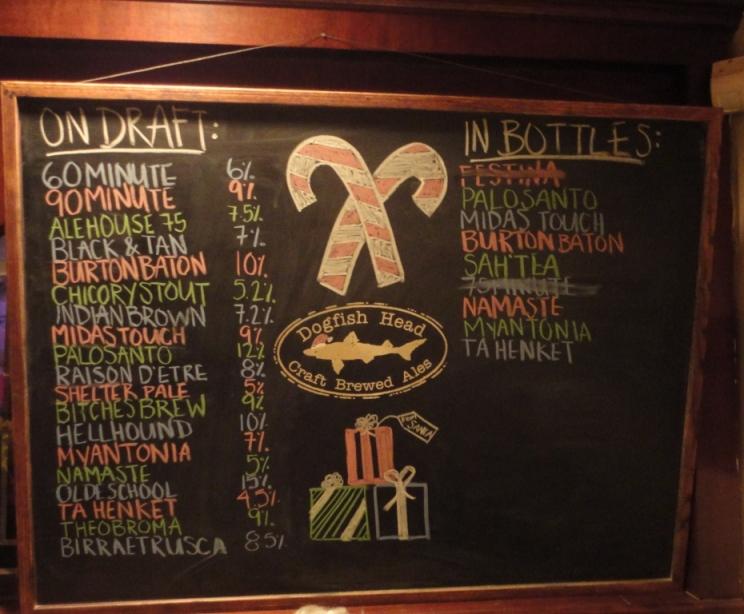 Dogfish Head Alehouse Gaithersburg Chalkboard