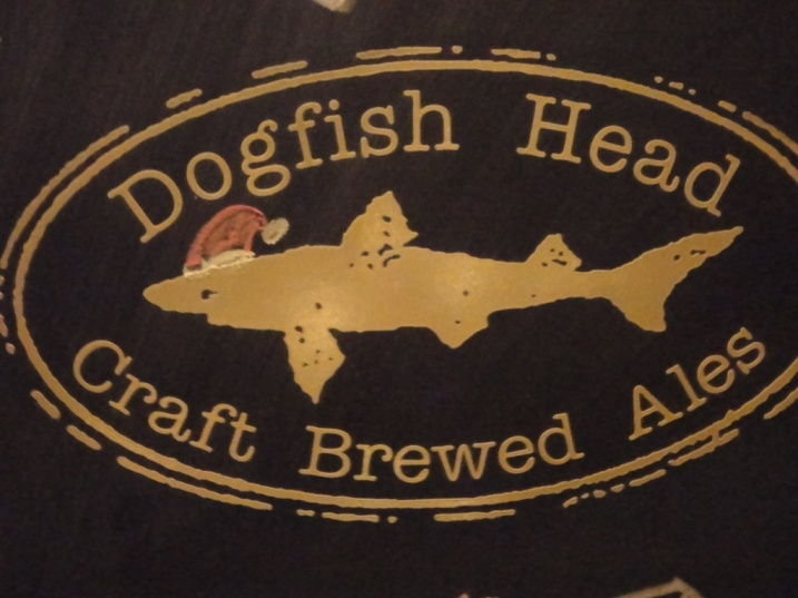 Dogfish Head in a Santa Hat