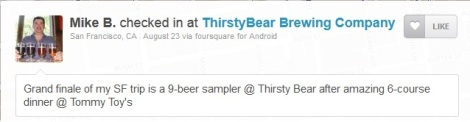 ThirstyBear Check-in