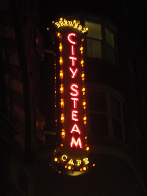 City Steam Sign