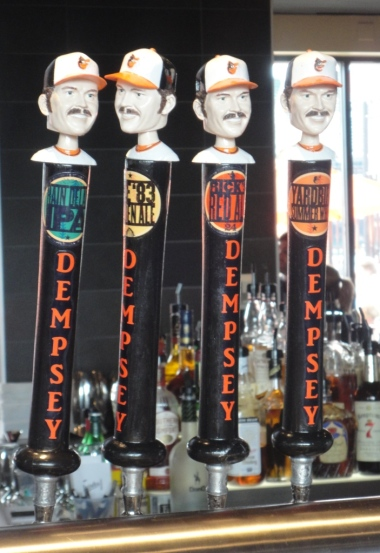 Tap Handles at Dempsey's Brewpub in Oriole Park at Camden Yards