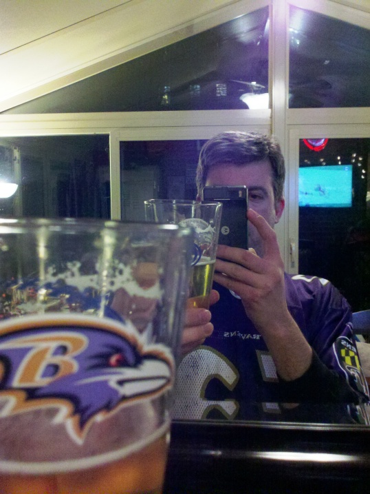 Ravens Pint Glass