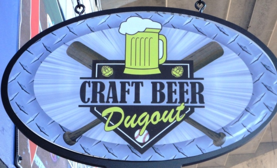 Craft Beer Dugout Sign