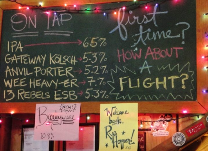 French Broad Brewing Company Chalkboard