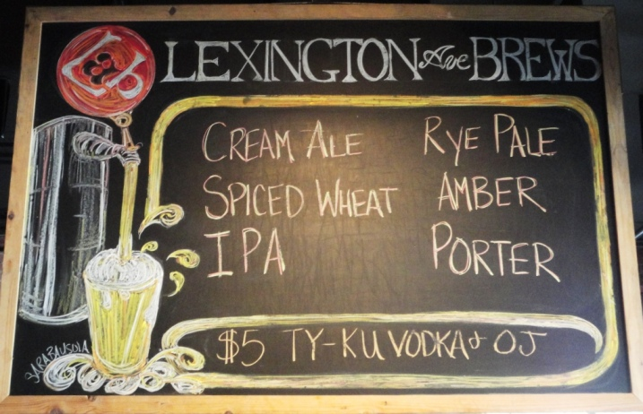 Lexington Avenue Brewery chalkboard