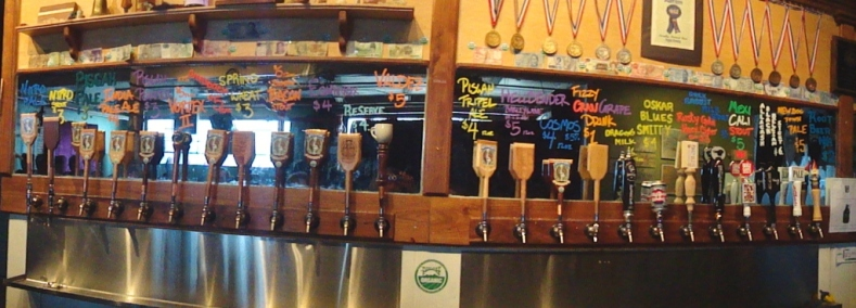 Pisgah Brewing Company taps