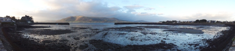 Carlingford Harbor panarama