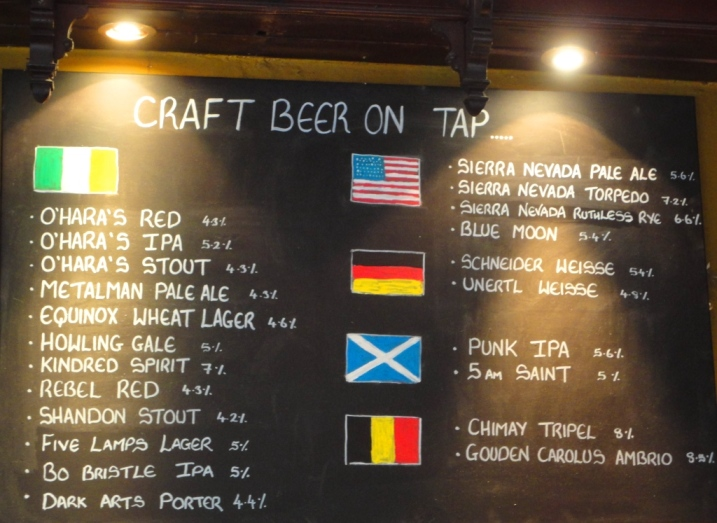 Farrington's Beer Chalkboard