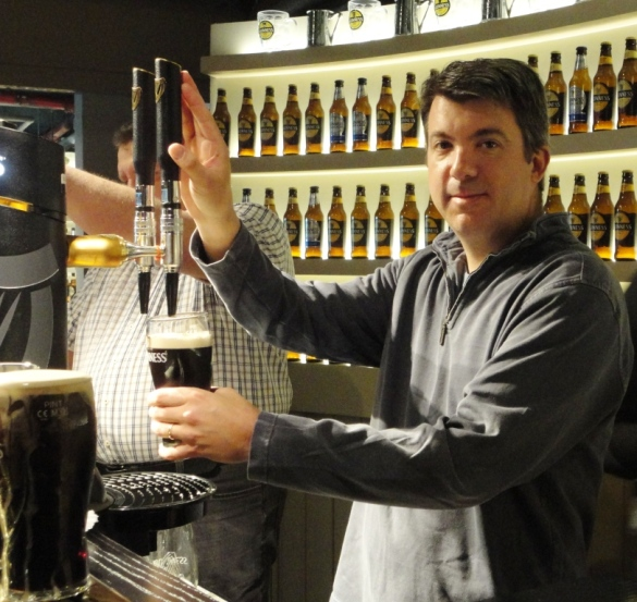 Pouring the Perfect Pint at the Guinness Academy