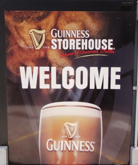 Guinness Storehouse Welcome Sign