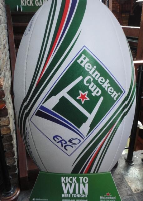 Heineken Cup Sign