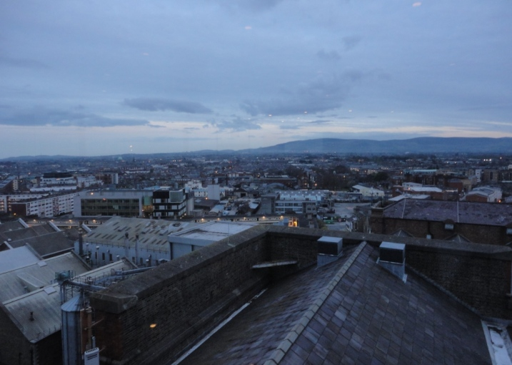 View of Dublin City from the Gravity Bar At Guinness Storehouse