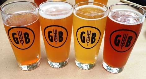 Gordon Biersch Kellerbier line-up