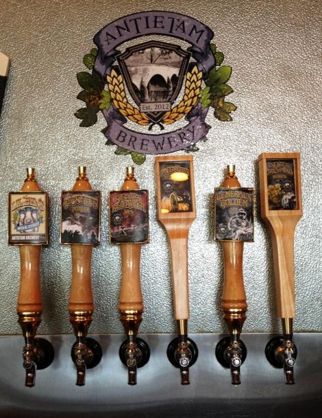 Antietem Brewery beer taps