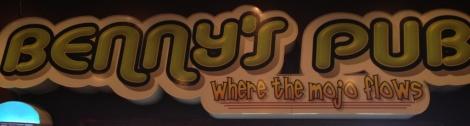 Benny's Pub sign