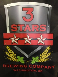 3 Stars Brewery Sign