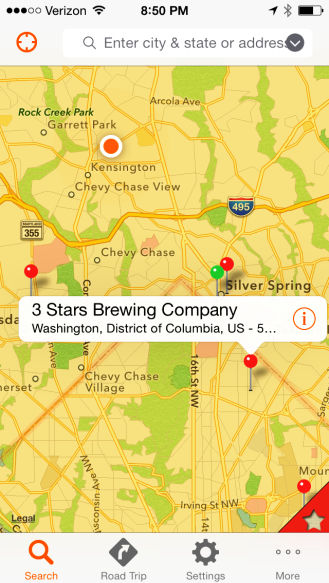 3 Stars Brewery Map