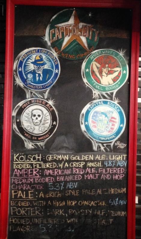 Cap City Beer Chalkboard
