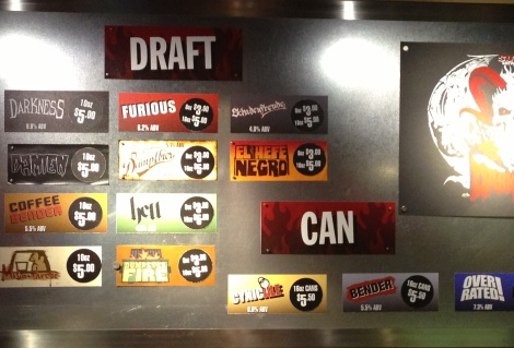 Surly Brewing Company menu2