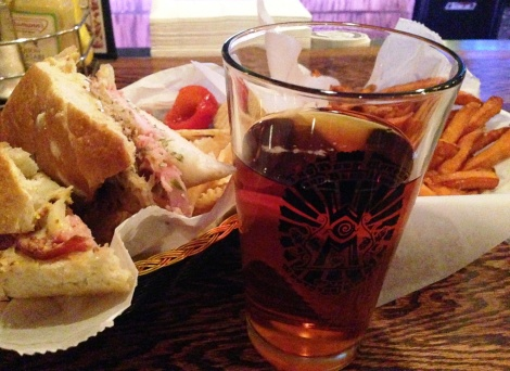 Westover Pint and Cuban Sandwich