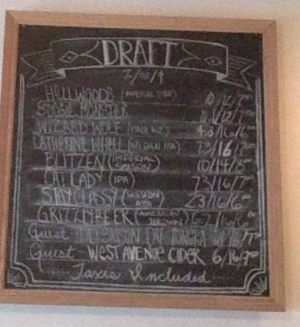 Bellwoods Brewery Chalkboard