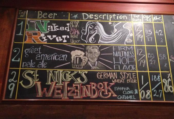 Sweetwater Tavern Chalkboard
