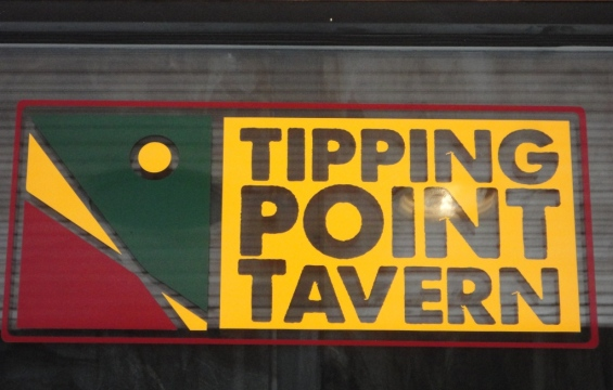 Tipping Point Tavern Sign
