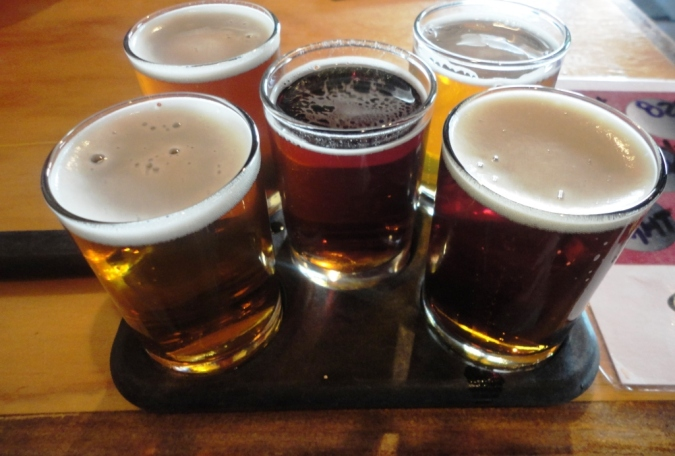 Asheville Brewing Company sampler