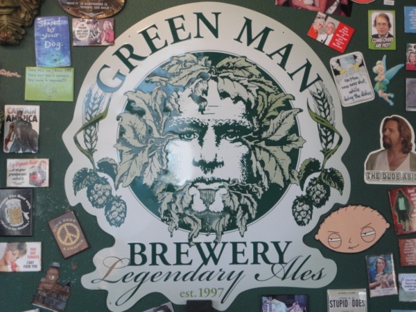 Green Man Brewery Sign