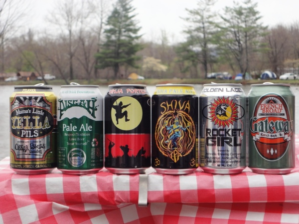 Six Pack of North Carolina Cans