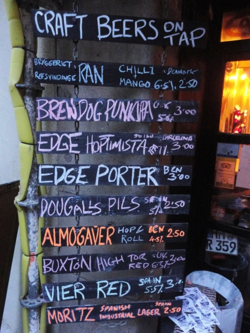Cat Bar Beer Chalkboard