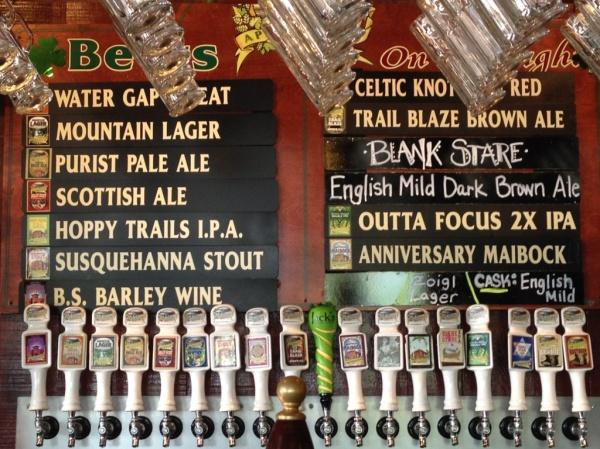 Appalachian Brewing Company Beer Board