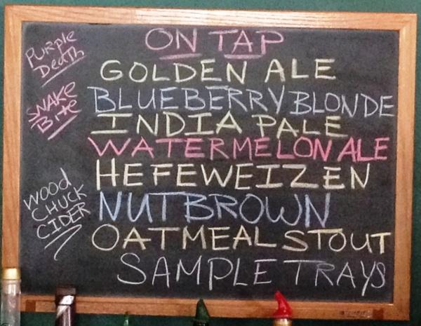 Coddington Brewing Company chalkboard