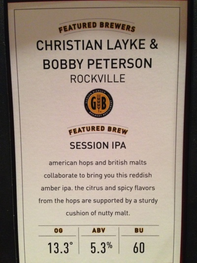 Gordon Biersch Session IPA Description