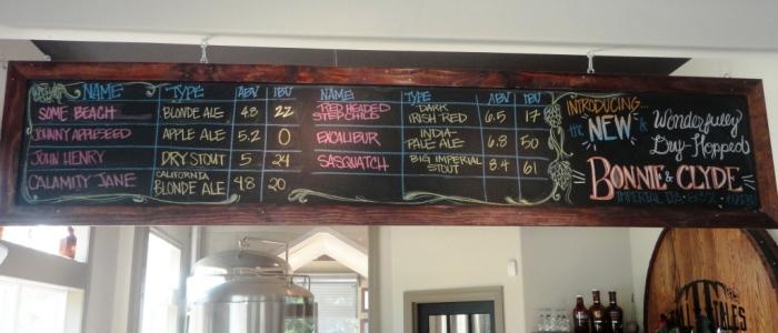 Tall Tales Brewing Company Chalkboard