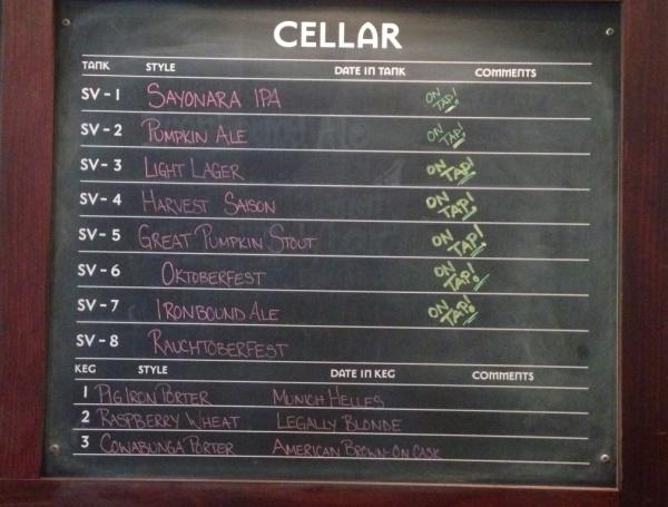 Iron Hill Beer Chalkboard