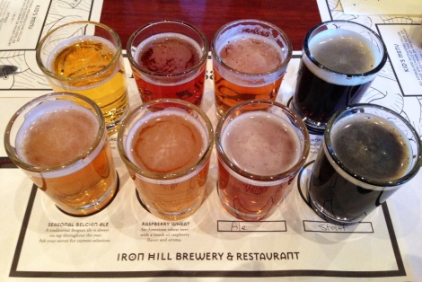 Iron Hill Beer Sampler