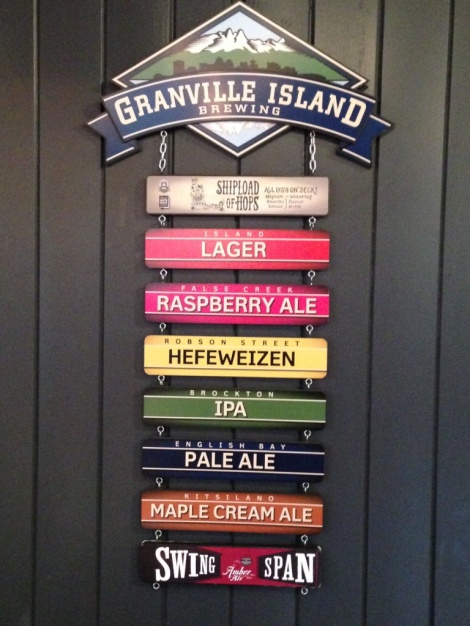 Granville Island Brewing sign