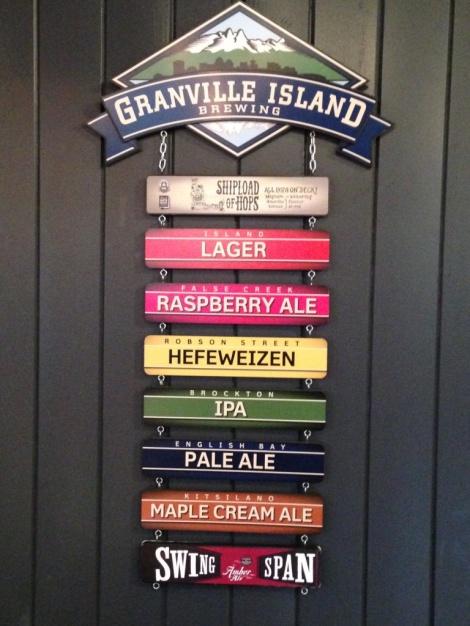 Granville Island Brewing sign