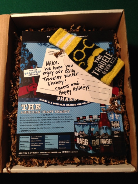 Jolly Traveler Winter Shandy box contents