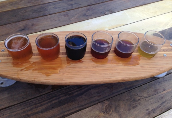 Backshore Brewing Company flight