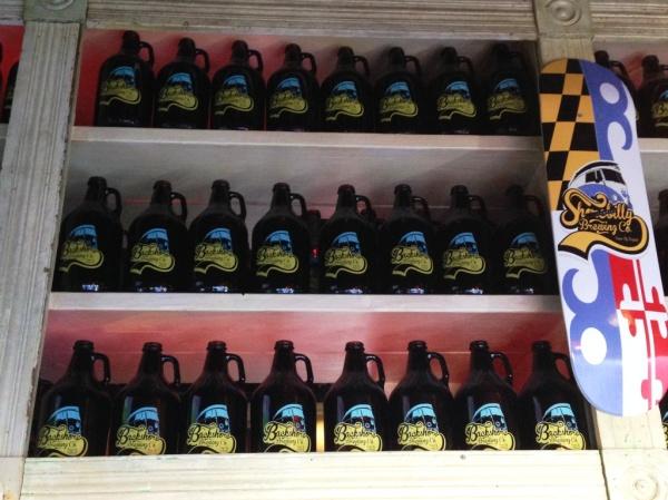 Backshore Brewing Company growlers
