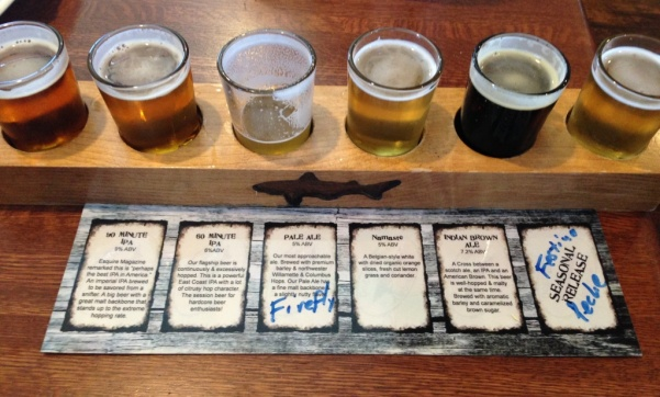 Dogfish Head Alehouse flight